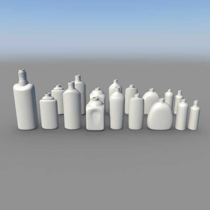 plastic bottle 3d max