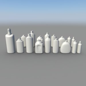 plastic bottle 3d max