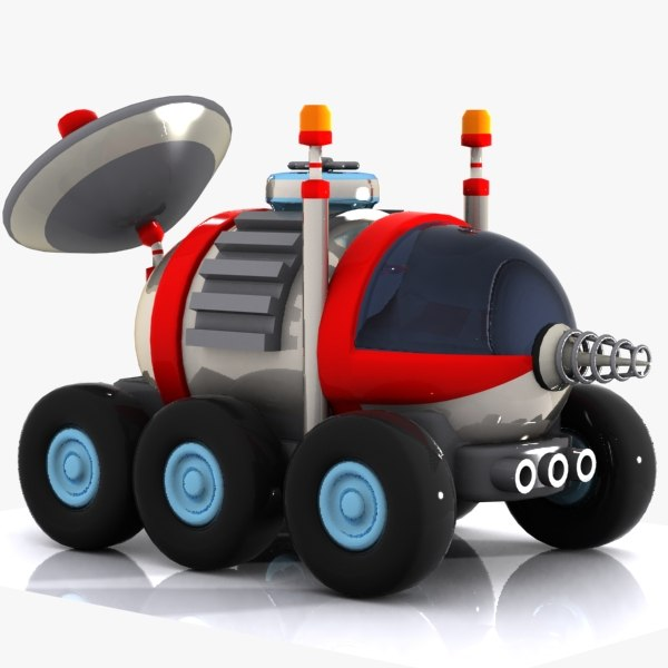 max cartoon space car