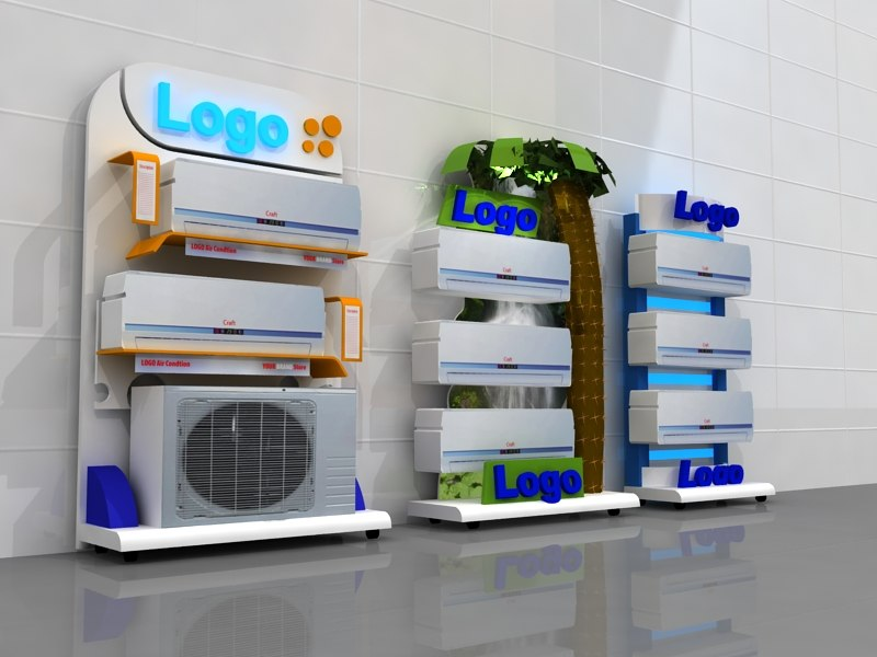 3d model 3 stand design air conditioning