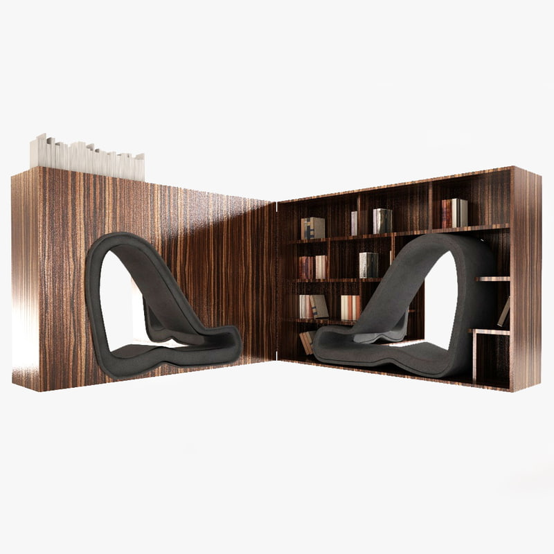 bookcase book case c4d