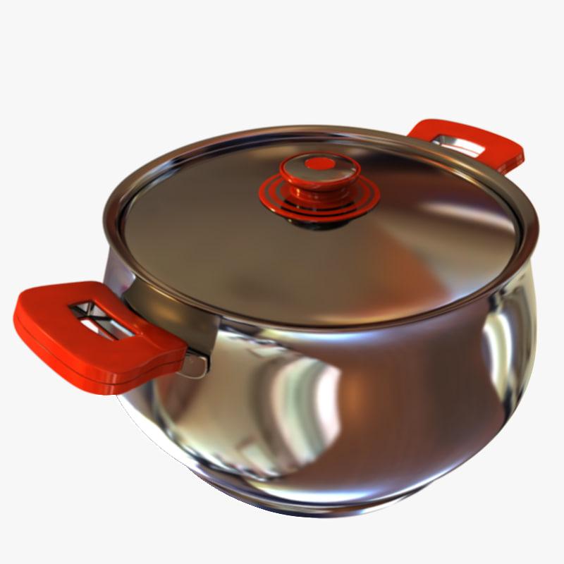 pot cook cooker 3d model