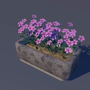 flower flowerbed c4d free