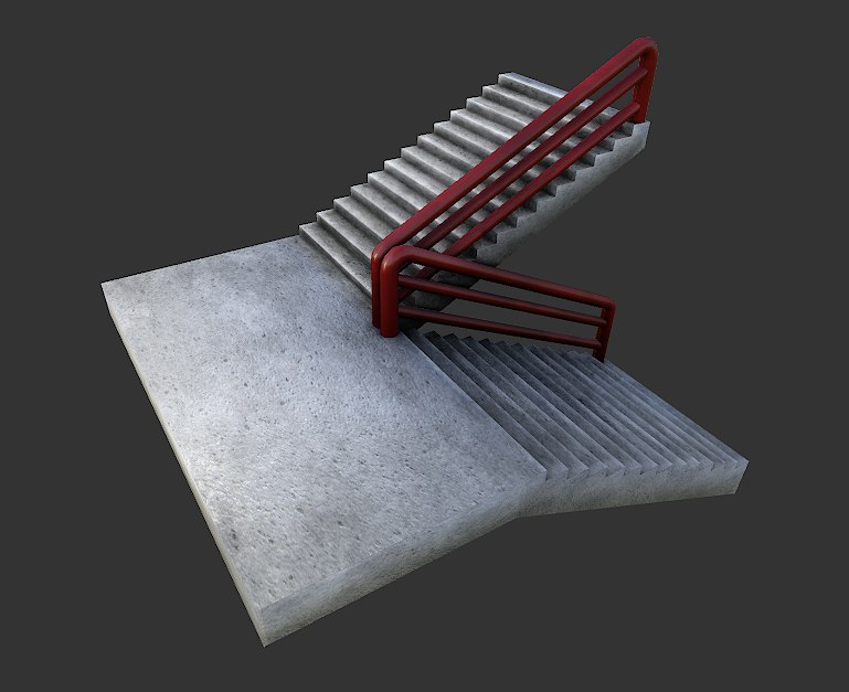 3d emergency stairs