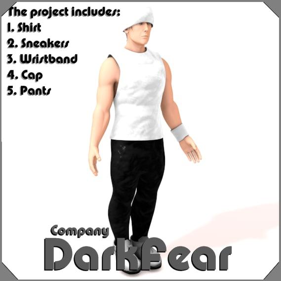 3d model clothes pants shirt