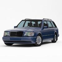 mercedes-benz e-class w124 touring 3d max