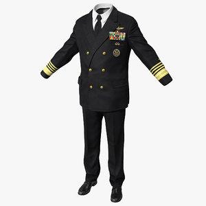 admiral uniform 2 3d model