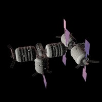 3d model commercial space station bigelow
