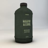 aluminum bottle 3d 3ds