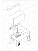 COMPUTER DESK ( ISOMETRIC )