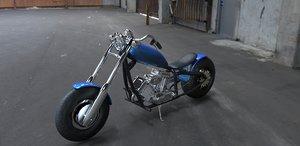 custom chopper 3d model