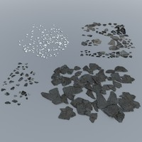 Debris - Broken Plaster / Concrete