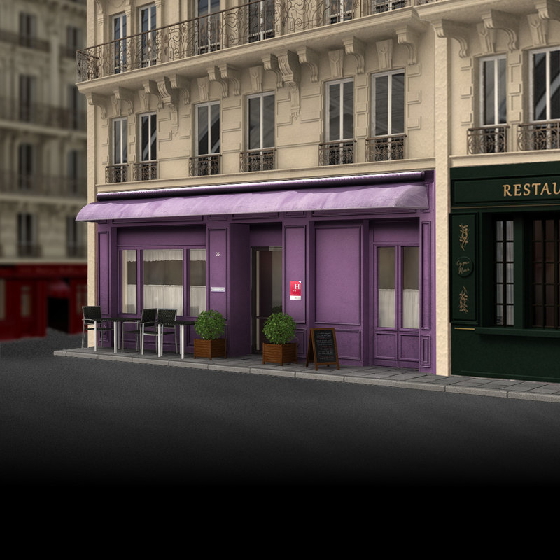 france hotel 3d model