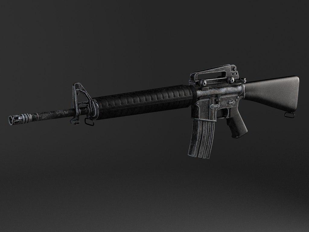 3d rifle m16 a4