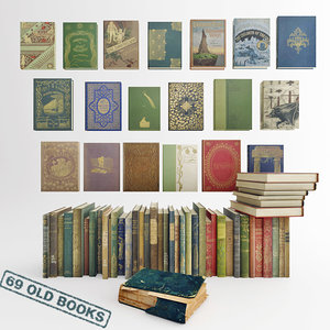69 old books 3d max