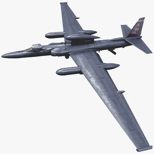 3d reconnaissance aircraft lockheed u-2 model