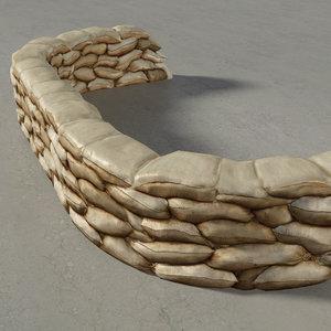 construct sandbag wall kit x
