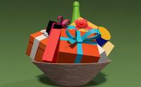 3d gift basket model