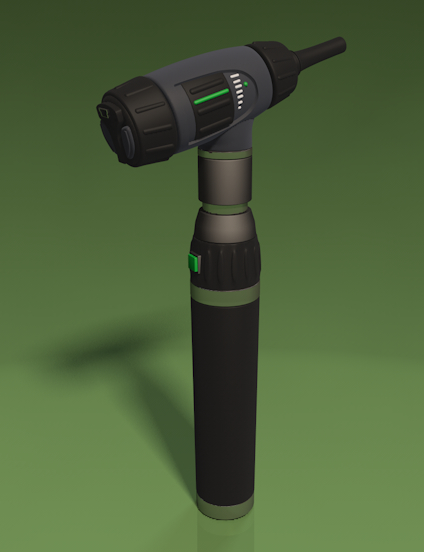 c4d otoscope medical equipment