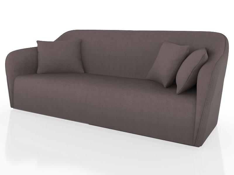 3d model smania gramercy sofa