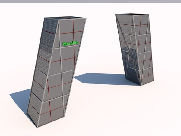 3d gate towers kio madrid