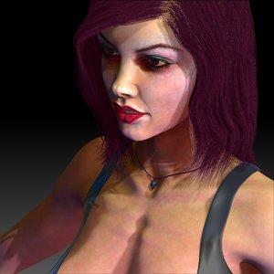 3d model woman vampire