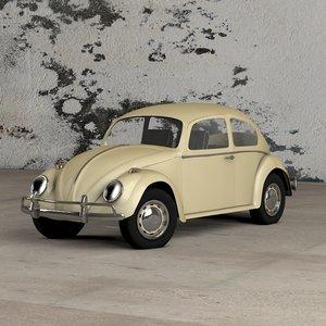 volkswagen beetle c4d