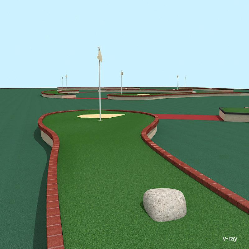 3d mini golf court model