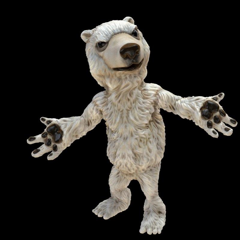 dxf cartoon polar bear