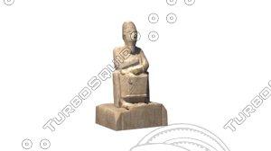 3d statue idrimi