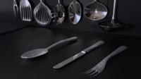 3ds max kitchen utensils