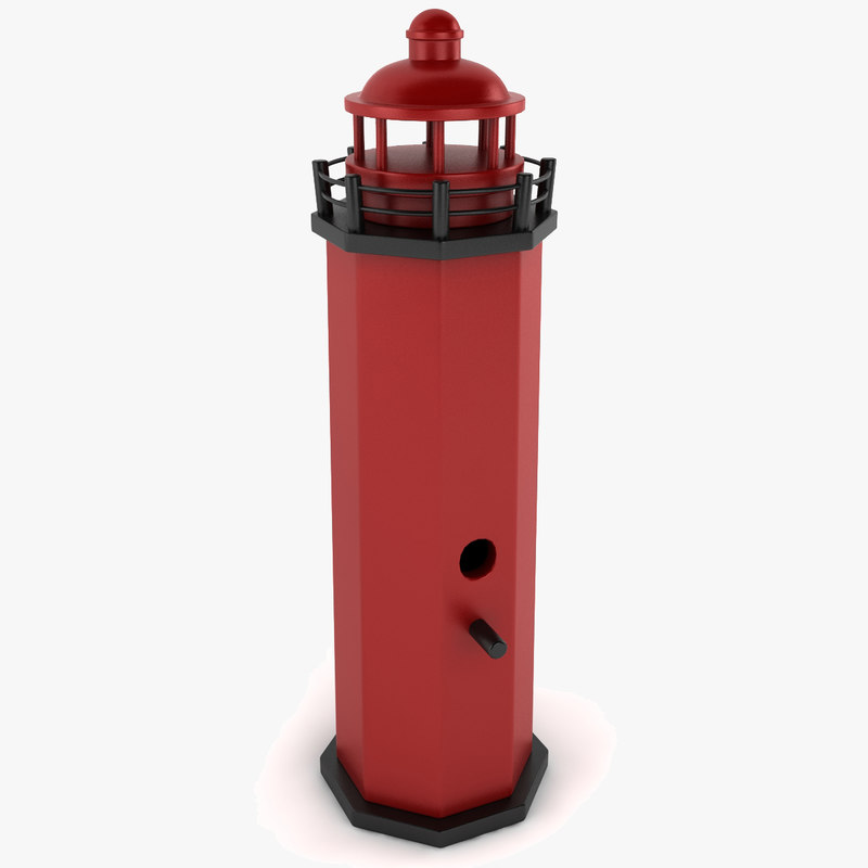 3d lighthouse birdhouse light