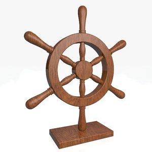 3d model nautical wheel