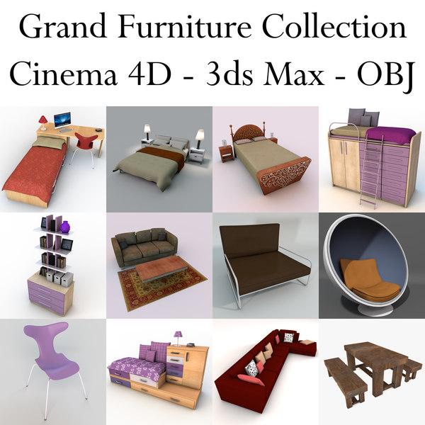 grand furniture 3d model