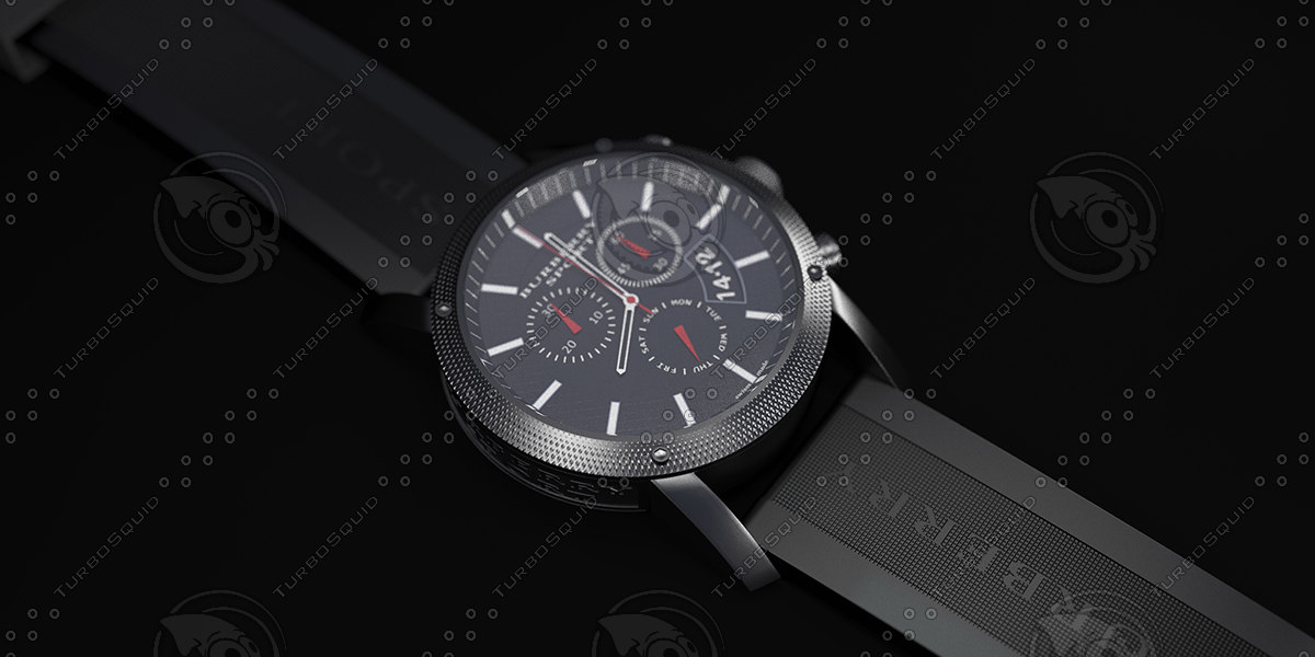 3d model watch sport