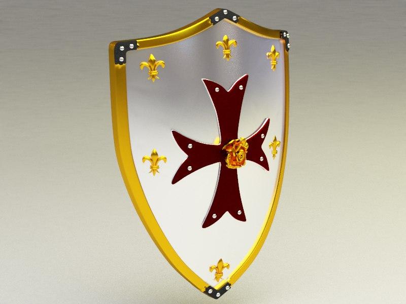 shield crusader 3d model
