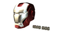 iron man helmet 3d 3ds