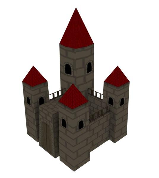 medieval cartoon castle 3d 3ds