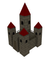 Toon castle(low-poly)