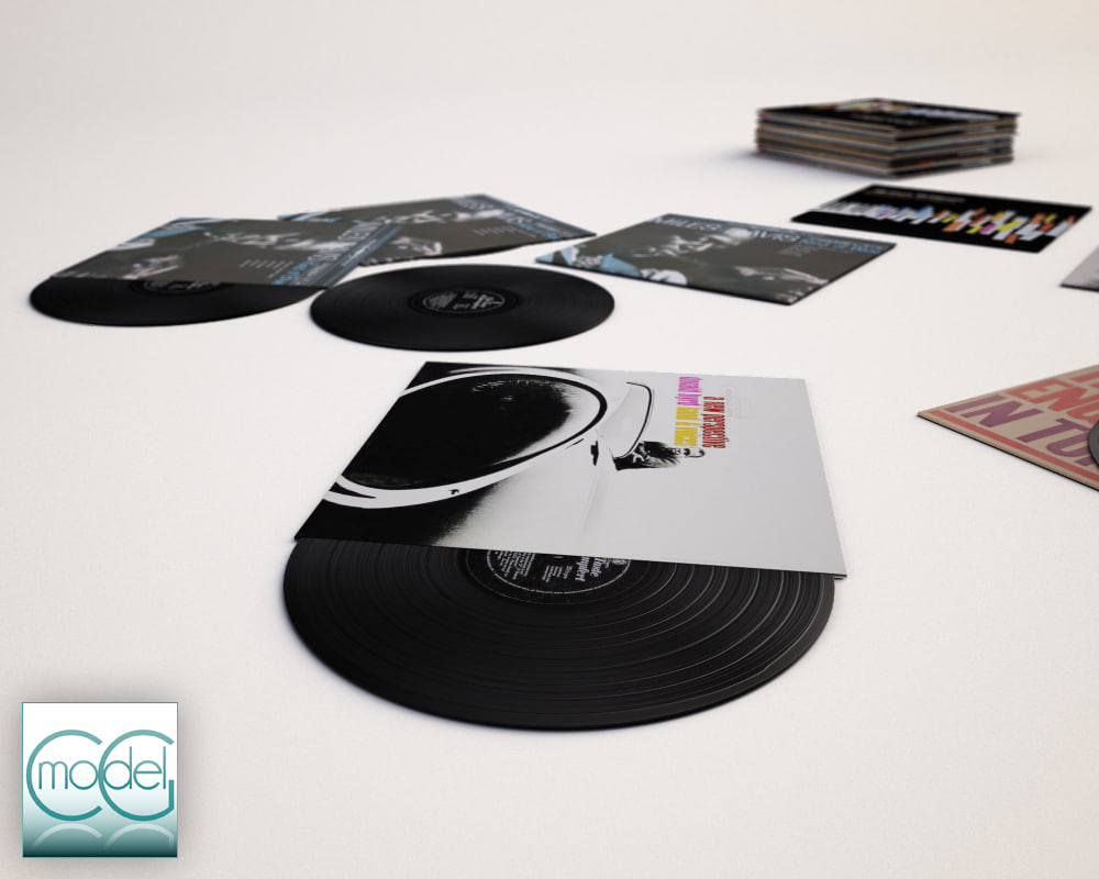 3dsmax vinyl record