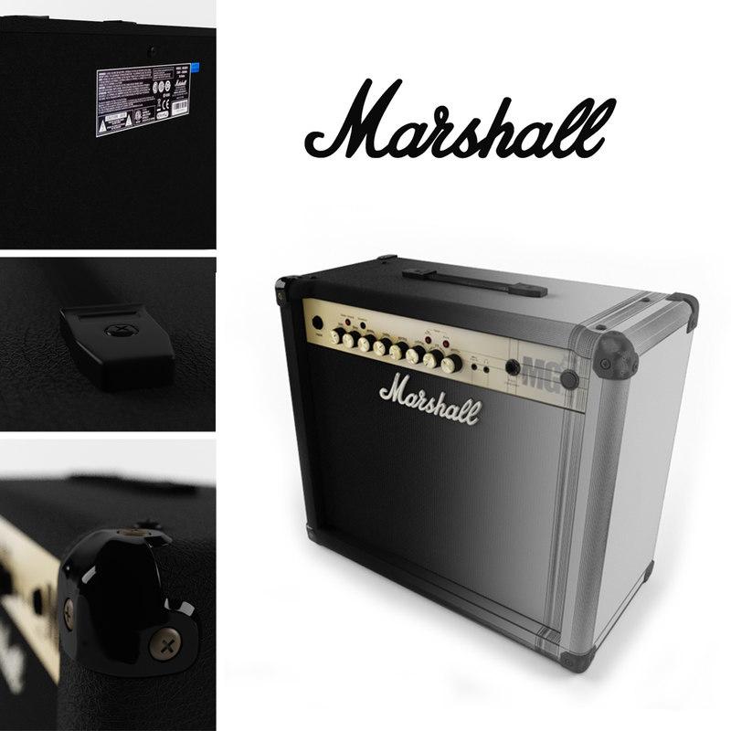 3d guitar amplifier marshall mg30fx