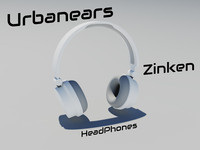 urbanears zinken headphones 3d obj