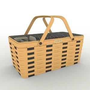 3d model longaberger basket