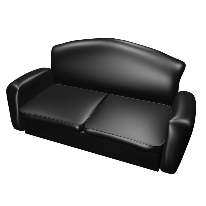 simple sofa 3d 3ds