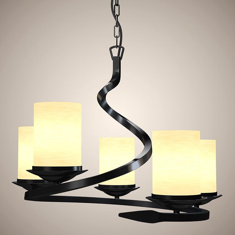 modern chandelier lights 3d max