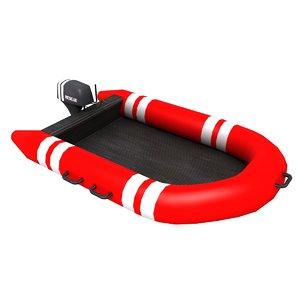 3d model of rescue boat