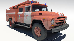 3dsmax russian truck zil 130