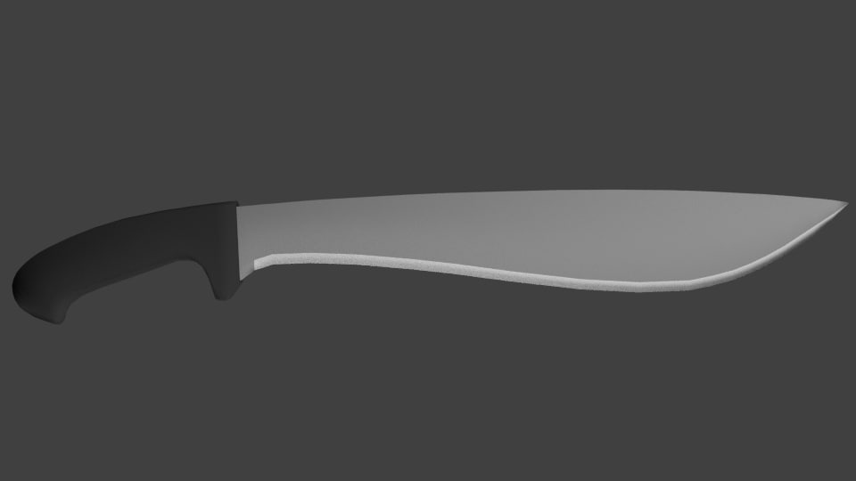3d model jungle machete