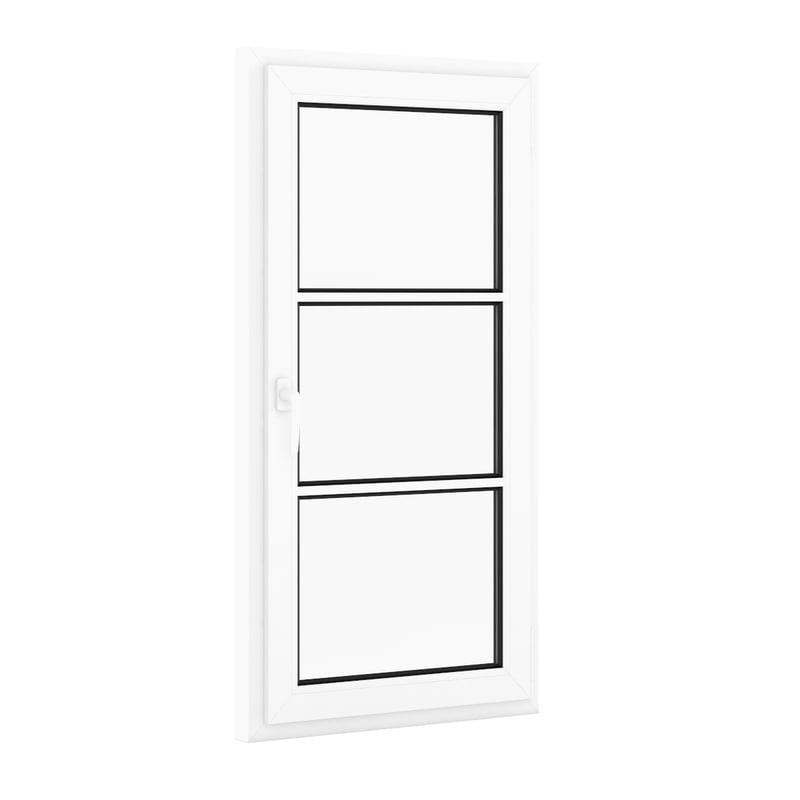 openable plastic window 800mm c4d