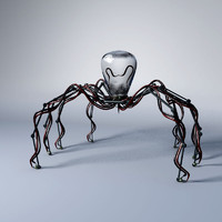 mechanical robot spider obj
